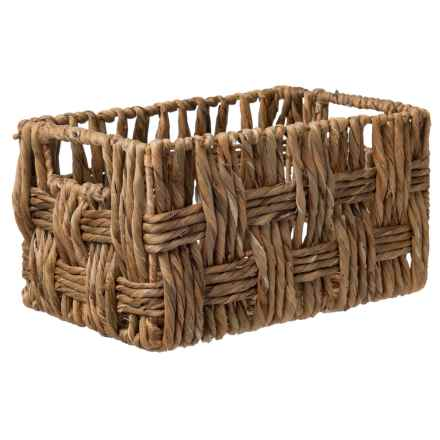 "UMA Small Rectangle Wicker Basket - 13"" in Light Brown - Closeouts"