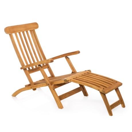 UMA Teak Steamer Lounge Chair in Natural
