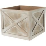 "UMA Wood Crate Planter - 10"""