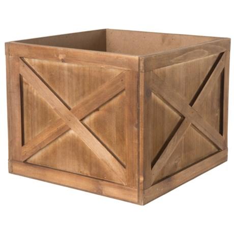 "UMA Wood Crate Planter - 10"" in Natural"