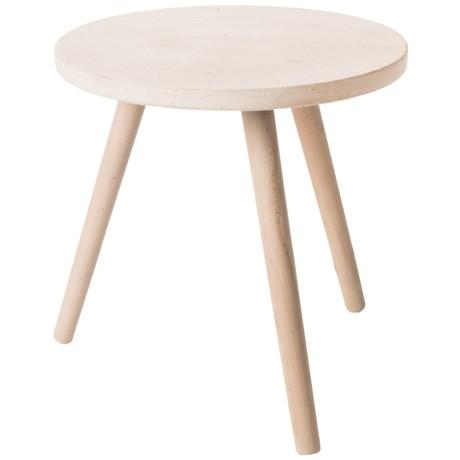UMA Wood Fiber Clay Side Table   17x18u201d In White/Natural Good Ideas