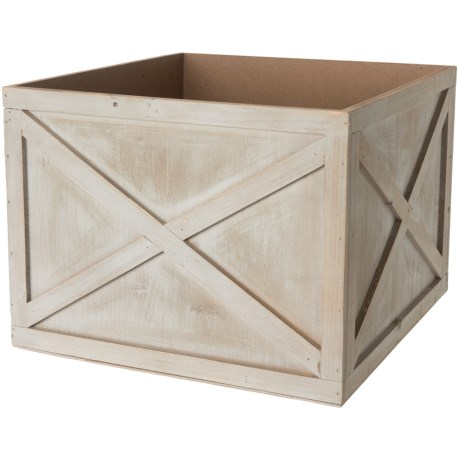 "UMA Wood Planter Crate - 12"" in Grey"