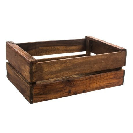 UMA X Large Wood Storage Crate   22.5u201d In Light Wood