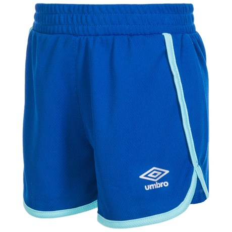 Umbro Extra Time Shorts (For Little Girls) in Lapis Blue/Blue Radiance
