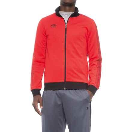 Umbro Signature Jacket - Full Zip (For Men) in Vermillion/Black - Closeouts