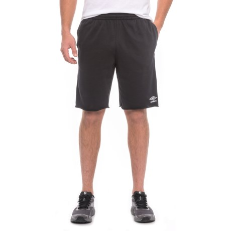 Umbro Solid Cut-Off French Terry Shorts (For Men) in Black/White