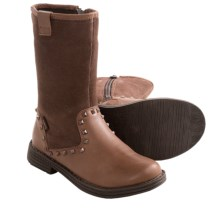 Umi Abbie II Boots - Suede and Leather (For Kid Girls) in Brown - Closeouts