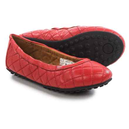 Umi Clea II Ballet Flats - Leather (For Little and Big Girls) in Red - Closeouts