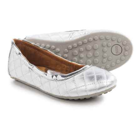 Umi Clea II Ballet Flats - Leather (For Little and Big Girls) in Silver - Closeouts