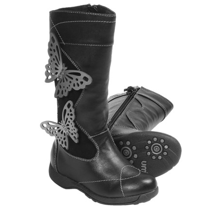Umi Ellise Butterfly Boots (For Kid and Youth Girls) in Black Multi