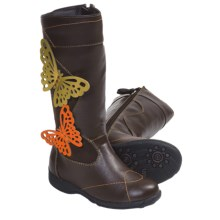 Umi Ellise Butterfly Boots (For Kid and Youth Girls) in Brown Multi - Closeouts