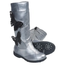 Umi Ellise Butterfly Boots (For Kid and Youth Girls) in Pewter - Closeouts