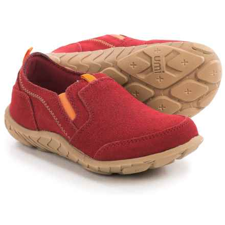 Umi Peyton II Suede Shoes - Slip-Ons (For Little and Big Boys) in Red/Red Multi - Closeouts