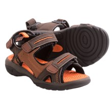 Umi Reece Sandals (For Little Boys and Girls) in Chocolate Multi - Closeouts