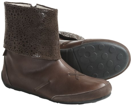 Umi Sassie Boots - Leather (For Girls) in Cocoa