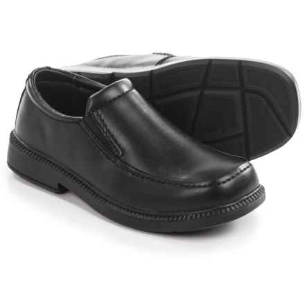 Umi School Dalton II Dress Loafers - Vegan Leather (For Little and Big Boys) in Black - Closeouts