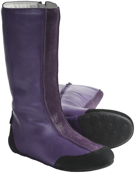 Umi Stormie Boots - Leather (For Girls) in Purple