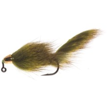 Umpqua Feather Merchants Barr Slump Buster Jigged Streamer Fly - Dozen in Chartreuse - Closeouts