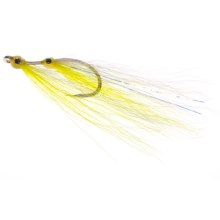 Umpqua Feather Merchants Cummings Gotta-Pair Saltwater Fly - 6-Count in Chartreuse/White - Closeouts