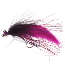 Umpqua Feather Merchants Double Down Leech Streamer Fly - 6-Count in Black/Fuchsia - Closeouts