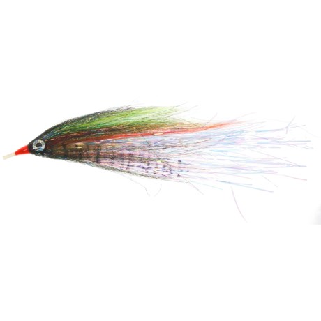 Umpqua Feather Merchants FPF Mean Joe Green Tube Saltwater Fly in Green/Black