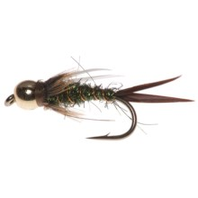 Umpqua Feather Merchants Green Hornet Nymph Fly - Dozen in Green - Closeouts