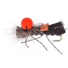Umpqua Feather Merchants Grillos Sideshow Bob Dry Fly - Dozen in Black - Closeouts