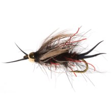 Umpqua Feather Merchants Hare'e Stone Nymph Fly - Dozen in Bloody Black - Closeouts