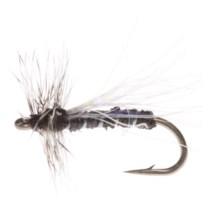 Umpqua Feather Merchants Kingrey Lowrider Foam Midge Dry Fly - Dozen in Black - Closeouts