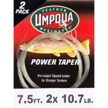 Umpqua Feather Merchants Power Leader - Tapered, 7.5', 2-Pack in See Photo - Closeouts