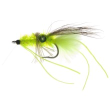 Umpqua Feather Merchants Scott's Crimp Saltwater Fly - Dozen in Chartreuse/Brown - Closeouts