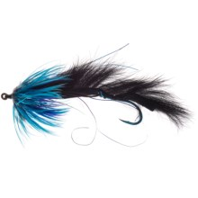 Umpqua Feather Merchants String Leech Salmon/Steelhead Fly - Dozen in Black/Blue - Closeouts