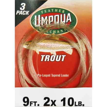 Umpqua Feather Merchants Trout Leader - Tapered, 9', 3-Pack in See Photo - Closeouts