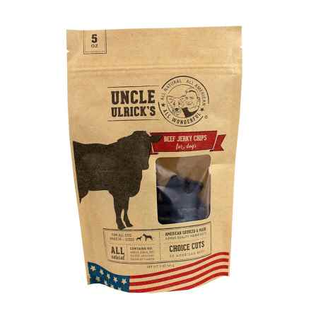 Uncle Ulricks Beef Jerky Chips Dog Treats - 5 oz. in See Photo - Closeouts