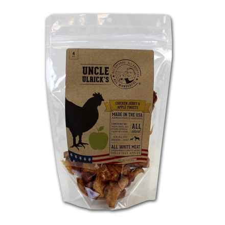 Uncle Ulricks Chicken Jerky and Apple Twists Dog Treats - 4 oz. in Apple - Closeouts