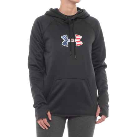Big Flag Logo Icon Hoodie (For Women) in Black - Closeouts