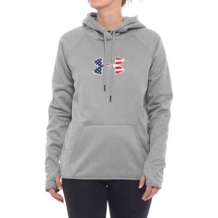 Big Flag Logo Icon Hoodie (For Women) in True Gray Heather - Closeouts