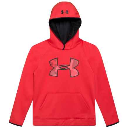 Big Logo Fleece Hoodie (For Big Boys) in Red - Closeouts