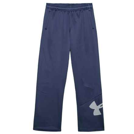 Big Logo Fleece Pants (For Boys) in Midnight Navy - Closeouts