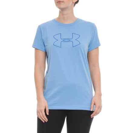 Big Logo HeatGear® T-Shirt - Short Sleeve (For Women) in Carolina Blue - Closeouts