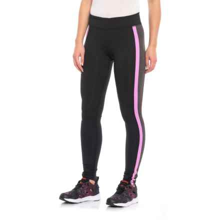 ColdGear® Tights (For Women) in Black/Carbon Heather/Pink - Closeouts