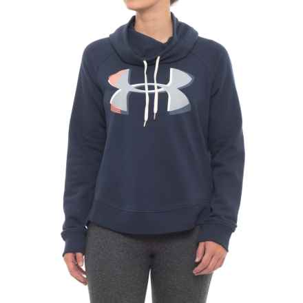 Fashion Favorite Exploded Logo Pullover Sweatshirt (For Women) in Midnight Navy - Closeouts