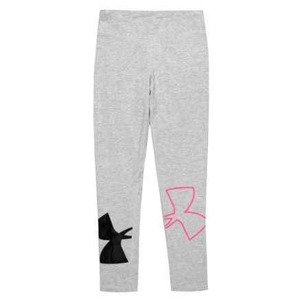 Heatgear® Finale Knit Leggings (For Big Girls) in True Gray Heather - Closeouts