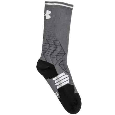 HeatGear® Football Socks - Crew (For Big Kids) in Graphite/White - Closeouts