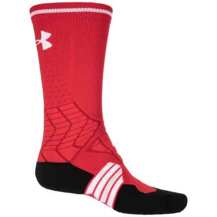 HeatGear® Football Socks - Crew (For Big Kids) in Red/White - Closeouts