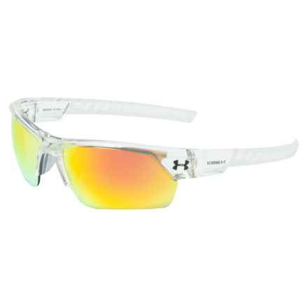Igniter 2.0 Sunglasses (For Men) in Shiny Crystal Clear/Frosted Clear/Gray/Orange Mult