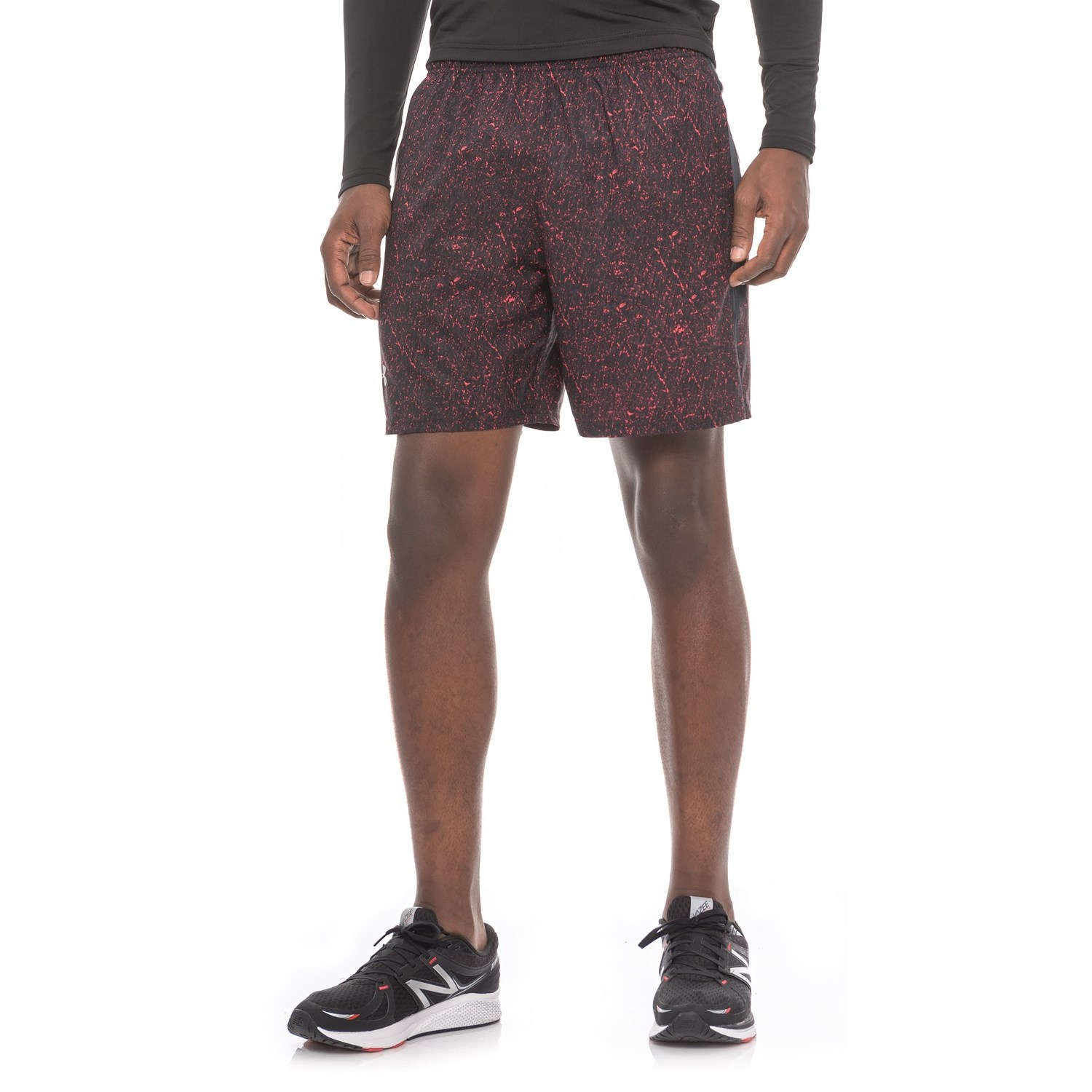 Under Armour Launch Sw Printed Shorts 7â Built In Brief For