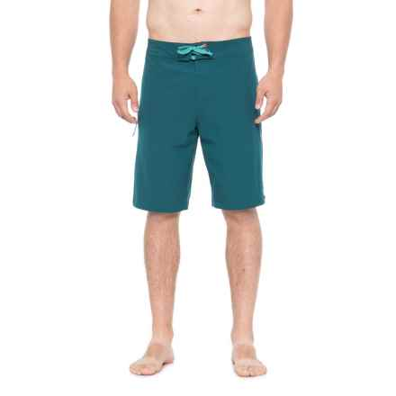 Mania Tidal Solid Boardshorts (For Men) in Tourmaline Teal - Closeouts