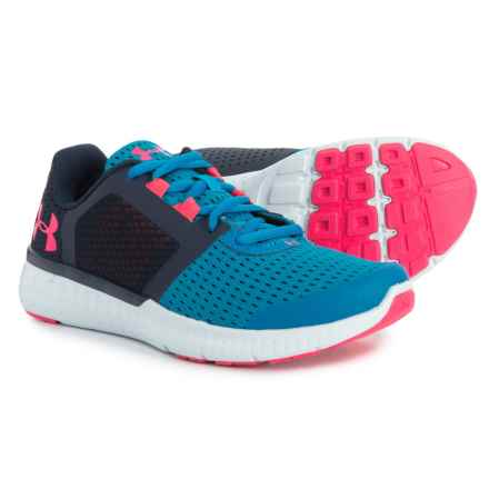 Micro G® Fuel Running Shoes (For Little and Big Girls) in Cruise Blue/Academy/Penta Pink - Closeouts
