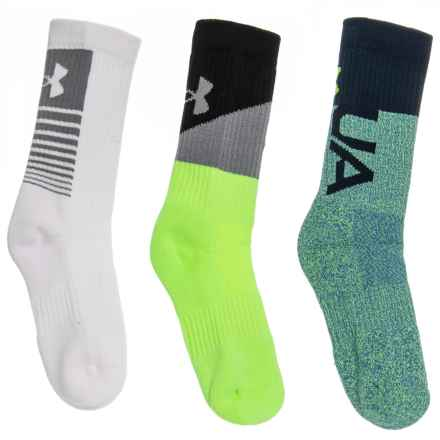 Performance Socks - 3-Pack, Crew (For Kids) in Hivisyellow - Closeouts